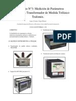 Labo 3 Medidas Medicion de Parametros Electricos en Transformador Trafomix