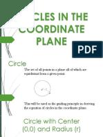 Circles in Coordinate Plane