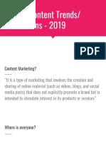 Content Trends - 2019