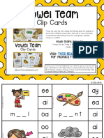 Free Vowel Team Clip Cards