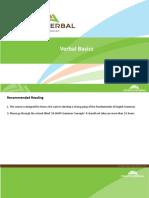 Verbal Basics