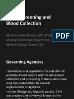 Donor's Screening
