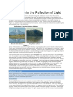Introduction to the Reflection of Light
