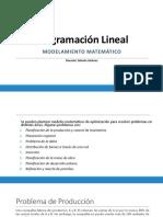 Formulación de Problemas de Programación Lineal