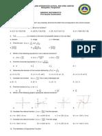 1st Quarter Exam- Gen Math
