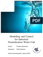 Modelling and Control for Industrial Neutralization Water Unit