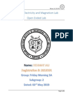 Open Ended Lab 2018