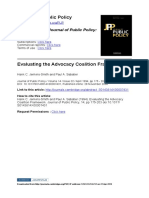 Evaluating the Advocacy Coalition Framework_Jenkins-Smith and Paul a. Sabatier
