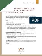 Learning Handout 3b - ICC Crimes
