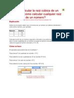 Cómo calcular la raíz cúbica de un número