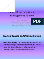 1 Management Science Introduction PPT