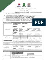 PPAN Riau 2019 - Application Form