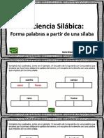 Conciencia Silabica Formar Palabras