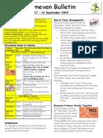 A school newsletter