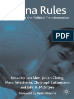 China Rules Globalization and Political Transformation Edited by Ilan Alon Julian Chang Marc F