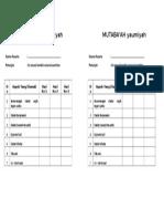 Form Mutaba'Ah (f4)