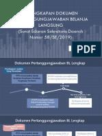 Paparan Se Sekda No 58se2019 Tentang Kelengkapan Dokumen Pertanggungjawaban Belanja Langsung 11mMs (1)