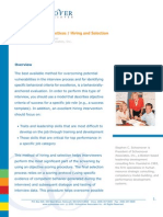 PDF Interview Best Practices Hiring Selection
