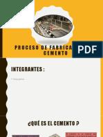 Proceso de Fabricación Del Cemento