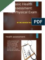 1. Basic Health Assessment- Physical Exam