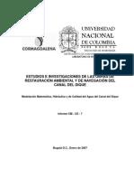 Cm-CD-07 Informe de Modelacion Matematica (Estudio Sobre Las Obras de Recuperación Del Canal Del Dique)
