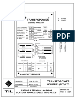 400 KVA WAPDA Pad Mounted TF Technical Submittal