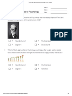 The 6 Major Approaches to Psychology _ Print - Quizizz