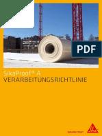 SikaProof a Verarbeitungsrichtlinie