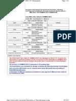 5th Sem Timetable - Summer 2017
