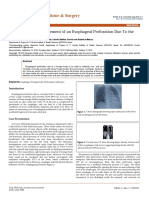 Rescue Surgical Management of an Esophageal Perforation Due to the Open Safety Pin 2161 1173