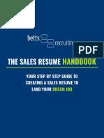 Sales Resume Handbook