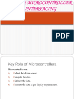 8051 Core Microcontroller & Interfacing