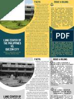 Handouts Lung Center of the Philippines vs. Quezon City