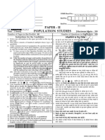 NTA NET Population Studies Paper 2 July 2018