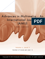Advances in Multimedia - An International Journal (AMIJ) Volume 1  Issue 2