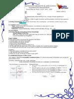 Rectangular Coordinate system