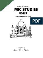 1 Islamiat Notes