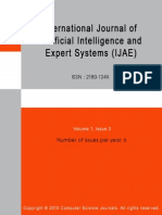 INTERNATIONAL JOURNAL OF ARTIFICIAL INTELLIGENCE AND EXPERT SYSTEMS (IJAE) Volume 1  Issue 3