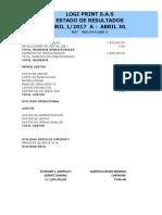 Estados Financieros Abril 1 a Abril 30 de 2017