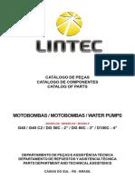 Catalogo de Pecas Das Bombas Dagua Lintec Linha Leve 70870