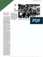 Noticia manifestación 14-N contra Yesa. Heraldo de Aragón