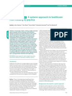 PROCESS AND SYSTEMS A systems approach to healthcare