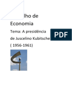 A Presidência de Juscelino Kubitschek
