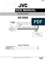 JVC Car Stereo KD-S595 Service Manual
