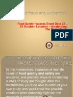 Food Fraud Masterclass in Europe Pdf