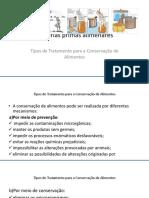 12- Tipos de Tratamento Para a Conservação de Alimentos
