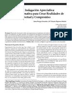 LA INDAGACION APRECIATIVA PARA CREAR REALIDADES DE LIBERTAD Y COMPROMISO.pdf