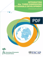 Integrating the Three Dimensions of Sustainable Development a Framework