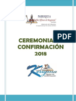 Guia de Ceremonia de Confirmación 2018