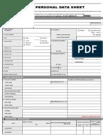 CS Form No. 212 Personal Data Sheet